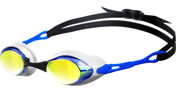 arena Cobra Mirror Goggles blue-orange-blue